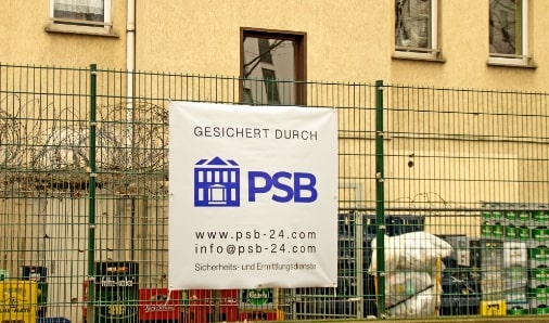 Objekt geschützt durch Protection Service Berlin