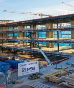 Baustelle überwacht durch Protection Service Berlin