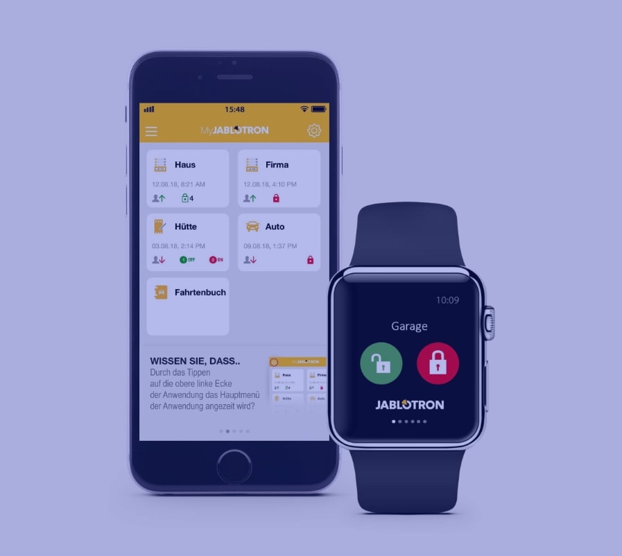 Alarm-Apps auf Smartphone und Smartwatch