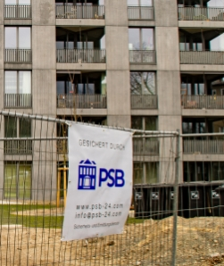 Baustelle bewacht durch Protection Service Berlin PSB