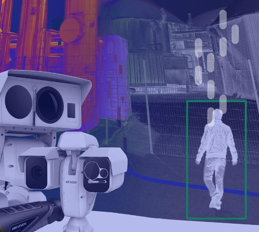 Videokamera erfasst Silhouette eines Menschen