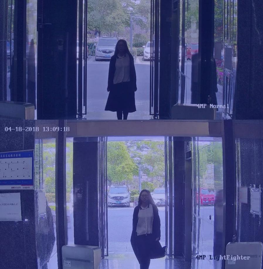 Bildqualität-Vergleich von zwei Überwachungskameras